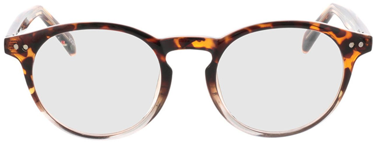 Picture of glasses model Delion-braun-meliert/transparent in angle 0