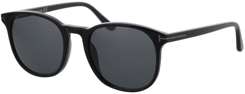 Picture of glasses model Tom Ford FT0858-N 01A 53 in angle 330