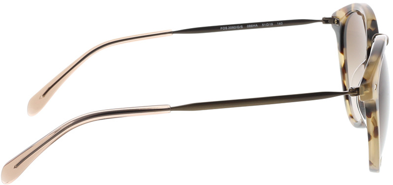 Picture of glasses model Fossil FOS 2092/G/S 086 51-19 in angle 90
