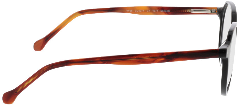 Picture of glasses model Sorrento-schwarz/braun in angle 90