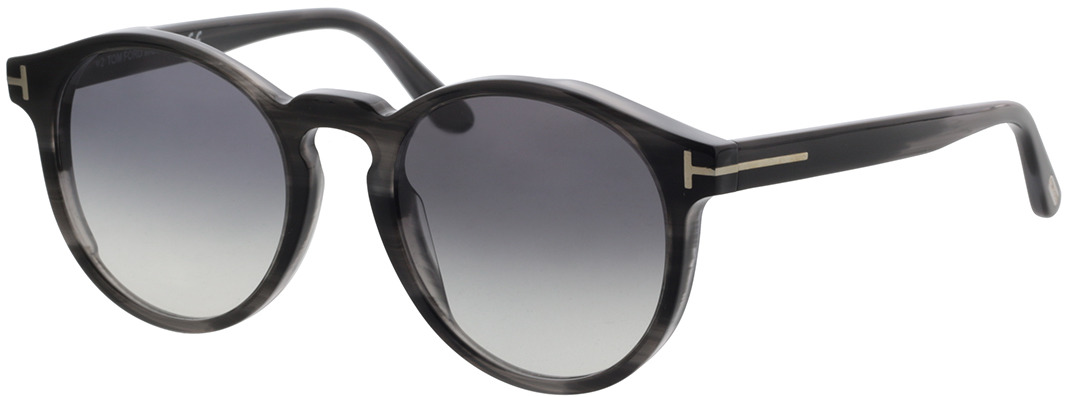 Picture of glasses model Tom Ford FT0591 20B in angle 330