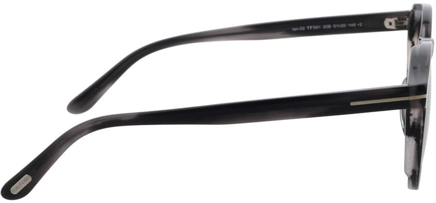 Picture of glasses model Tom Ford FT0591 20B in angle 90