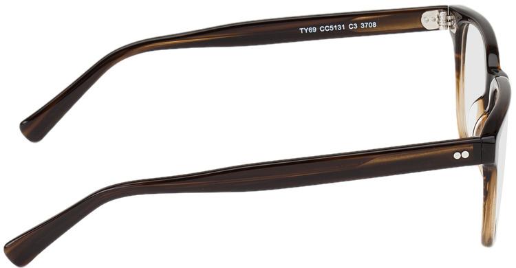 Picture of glasses model Johannesburg-brun marbré in angle 90