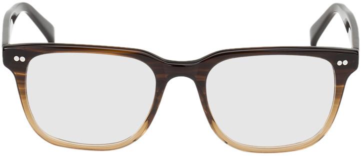 Picture of glasses model Johannesburg-brun marbré in angle 0