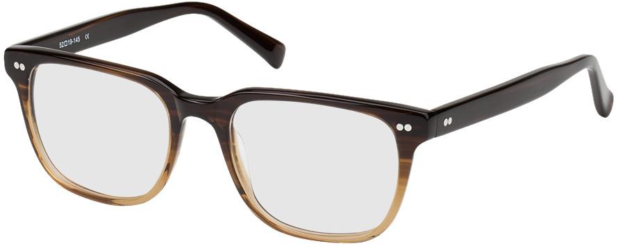 Picture of glasses model Johannesburg-brun marbré in angle 330