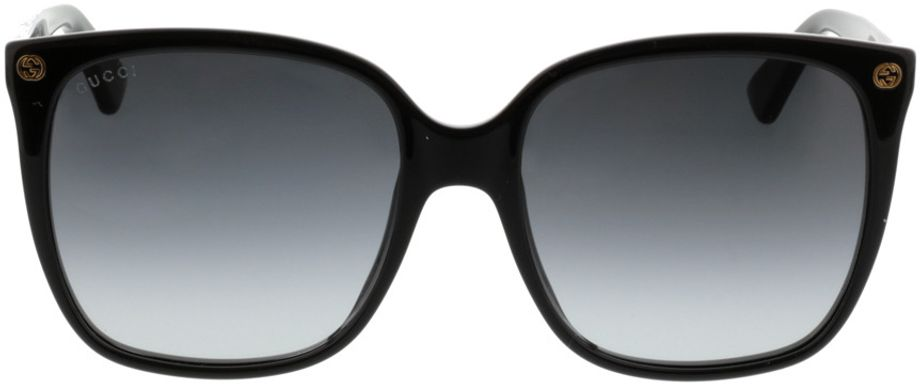 Picture of glasses model Gucci GG0022S-001 57-18 in angle 0