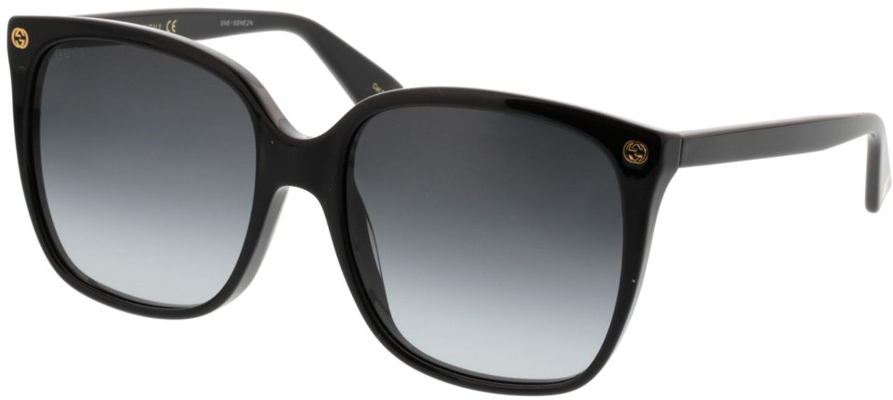 Picture of glasses model Gucci GG0022S-001 57-18 in angle 330
