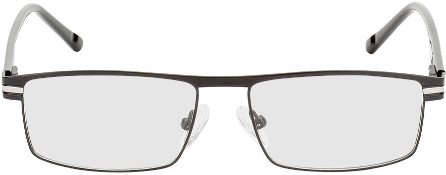 Picture of glasses model Salerno noir/argenté in angle 0