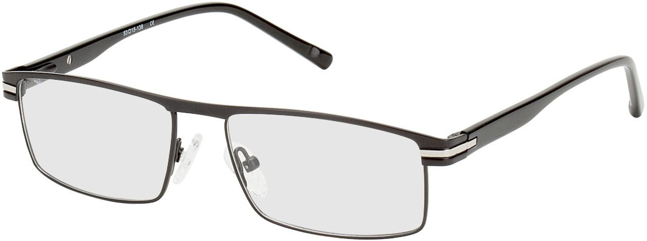 Picture of glasses model Salerno black/silver in angle 330