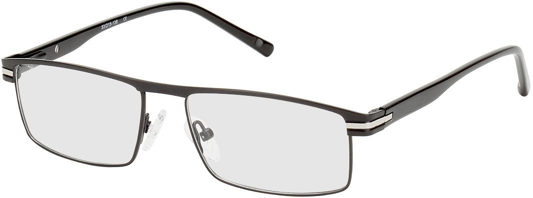 Picture of glasses model Salerno noir/argenté in angle 330