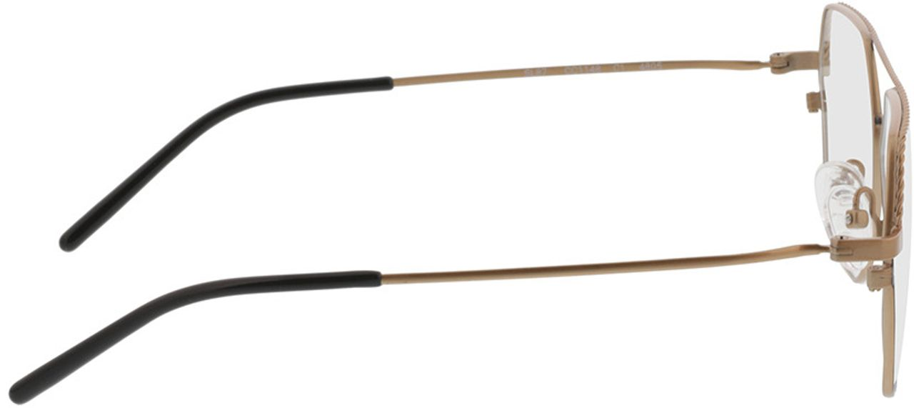 Picture of glasses model Kelso-gold/schwarz in angle 90
