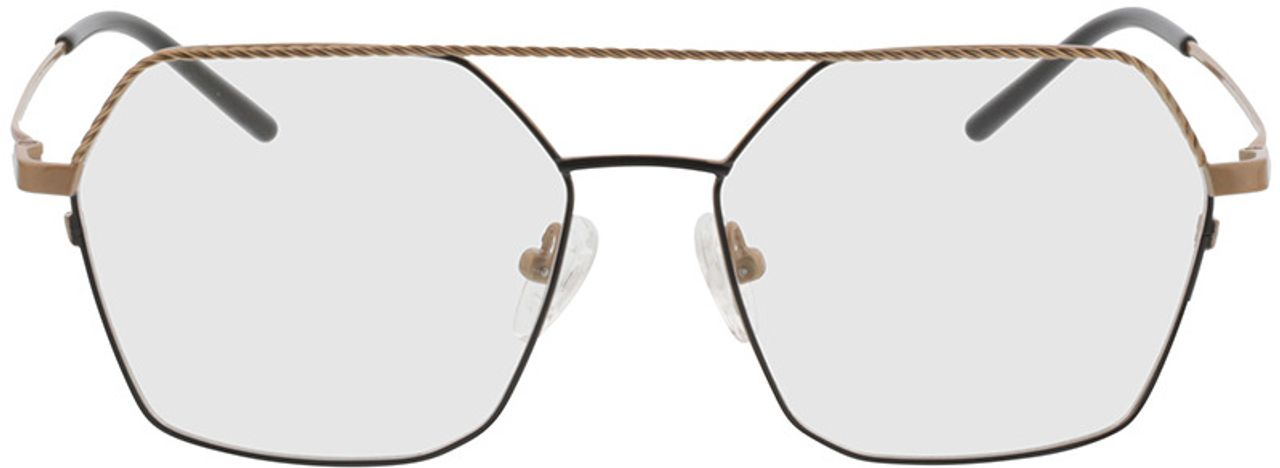 Picture of glasses model Kelso-gold/schwarz in angle 0