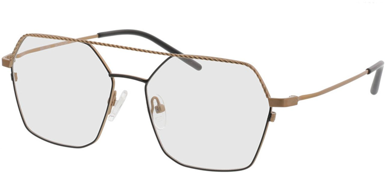 Picture of glasses model Kelso-gold/schwarz in angle 330