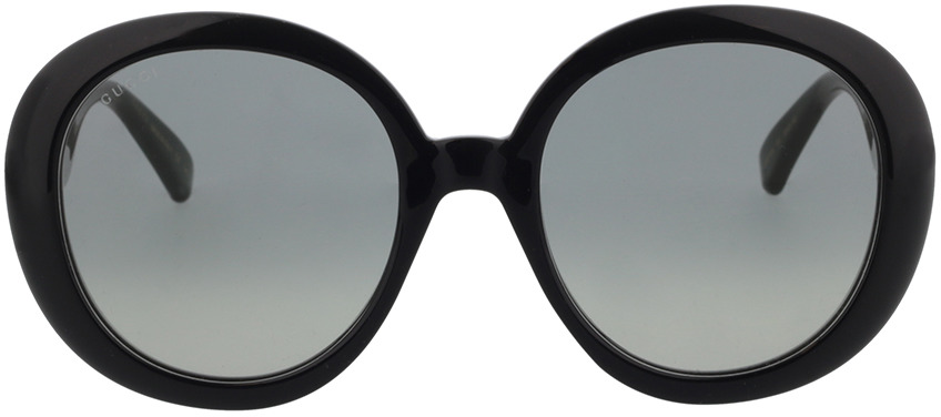 Picture of glasses model Gucci GG0712S-001 55-21 in angle 0