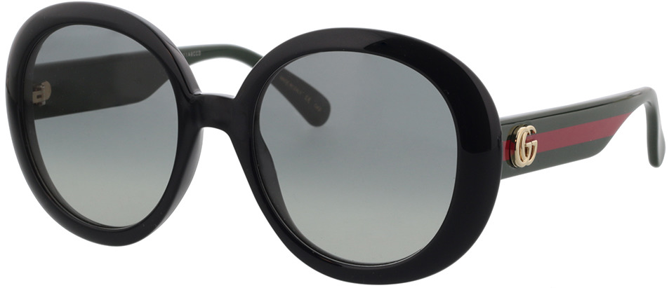 Picture of glasses model Gucci GG0712S-001 55-21 in angle 330