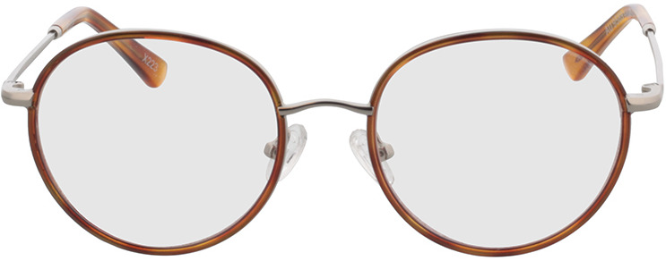 Picture of glasses model Moody-silber/hellbraun-meliert in angle 0