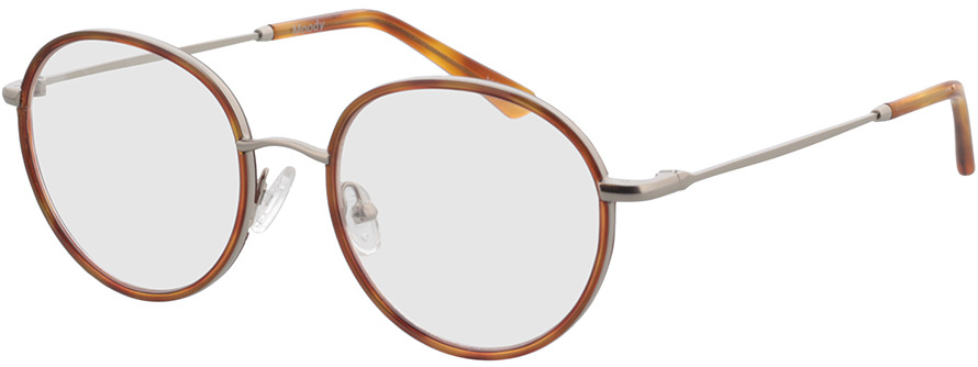 Picture of glasses model Moody-silber/hellbraun-meliert in angle 330