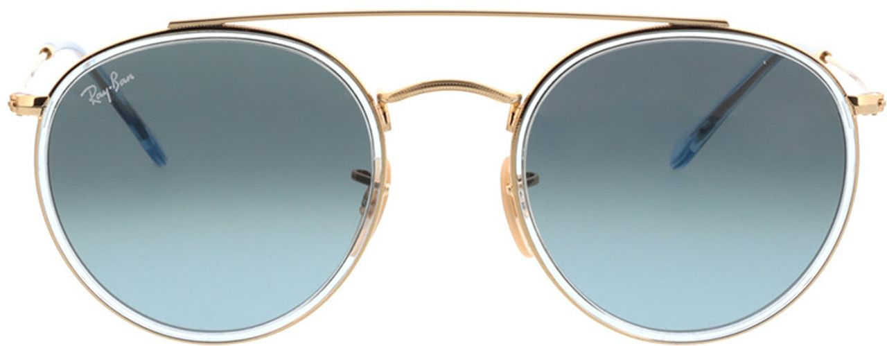 Picture of glasses model Ray-Ban Round Double Bridge RB3647N 91233M 51-22 in angle 0