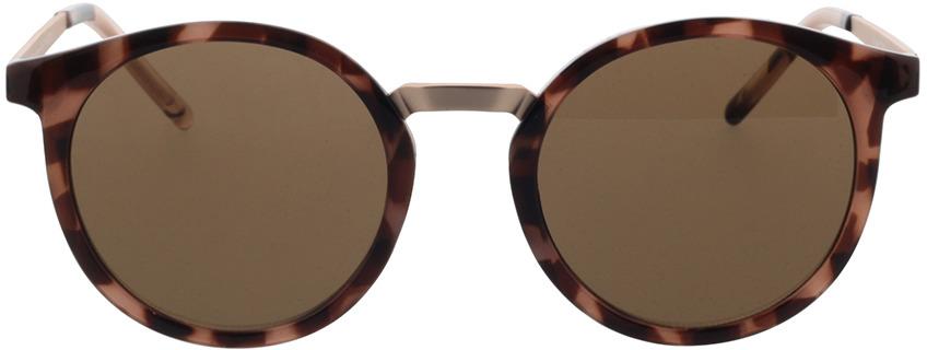 Picture of glasses model TAKE A SHOT Leonie: Pebble - Brown Bio TR-90 + Metal in angle 0
