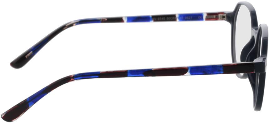 Picture of glasses model Pisco-dunkelblau in angle 90