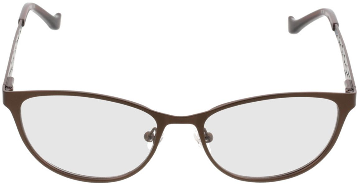 Picture of glasses model Delhi-brown in angle 0