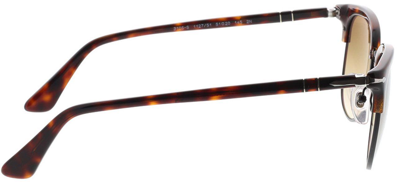 Picture of glasses model Persol PO3105S 112751 51-20 in angle 90