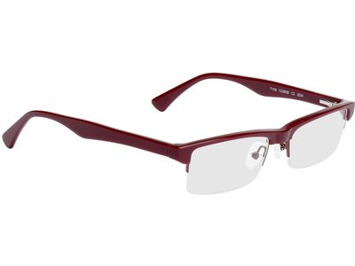 Brille Rugby-rot