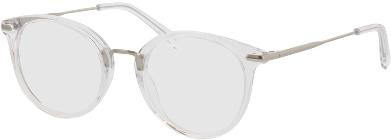 Picture of glasses model Dolina-transparent/matt silber in angle 330