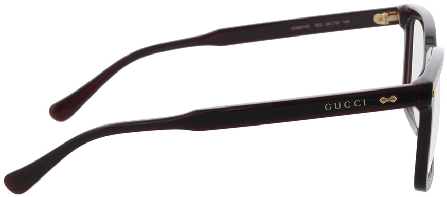 Picture of glasses model Gucci GG0914O-003 54-18 in angle 90