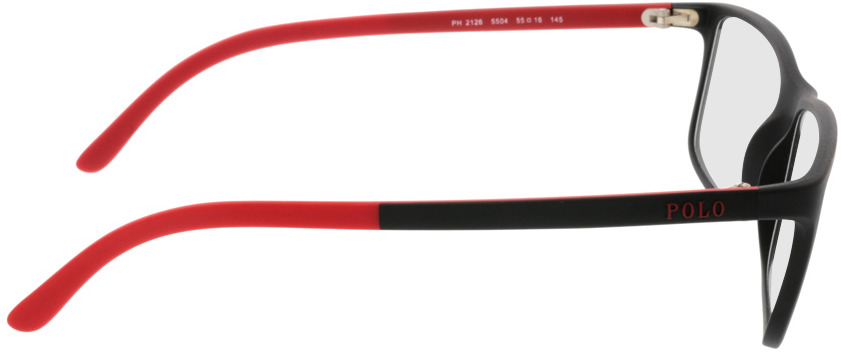 Picture of glasses model Polo Ralph Lauren PH2126 5504 55-16 in angle 90
