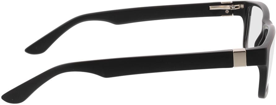 Picture of glasses model Tavian Mat zwart in angle 90
