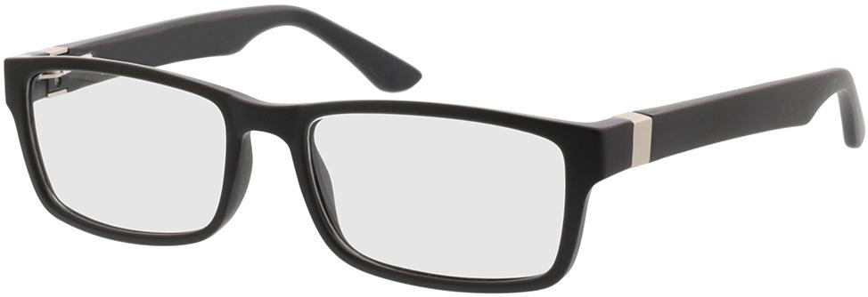 Picture of glasses model Tavian Mat zwart in angle 330