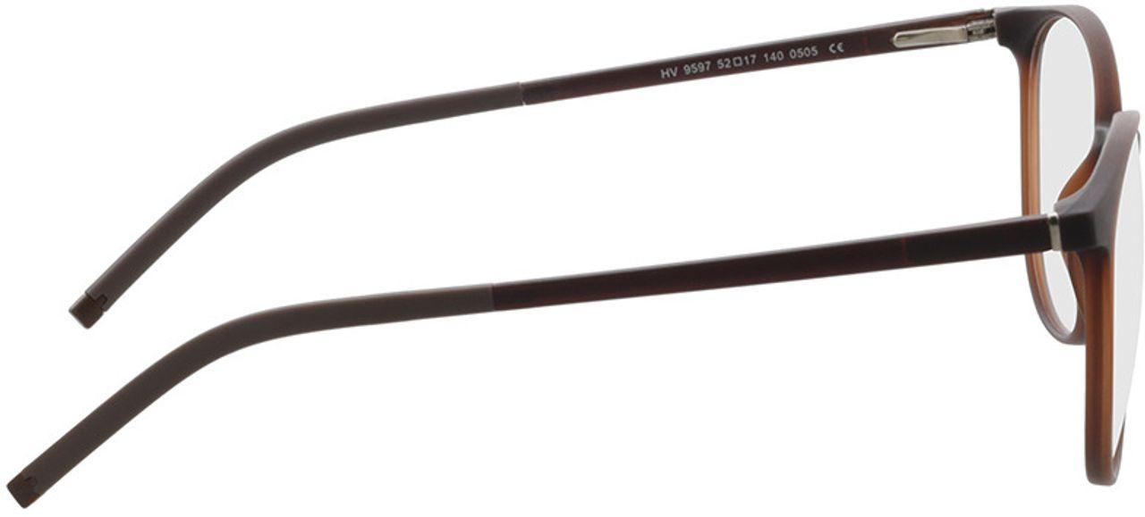 Picture of glasses model Conroe-matt braun in angle 90