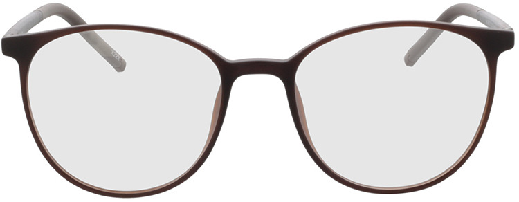 Picture of glasses model Conroe mat bruin in angle 0