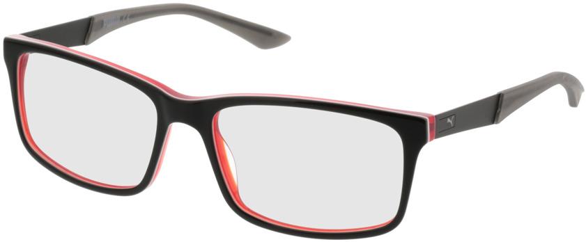 Picture of glasses model Puma PU0074O 007 56-17 in angle 330