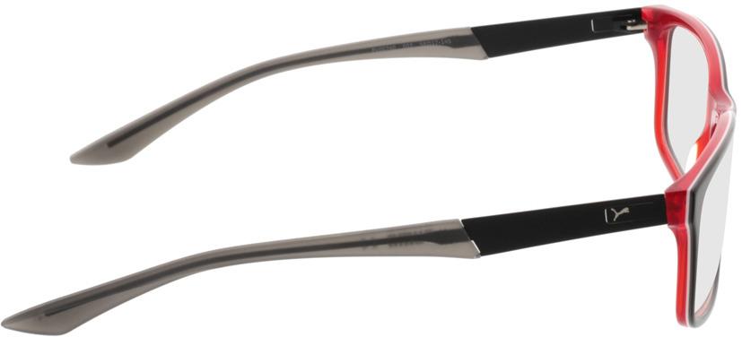 Picture of glasses model Puma PU0074O 007 56-17 in angle 90