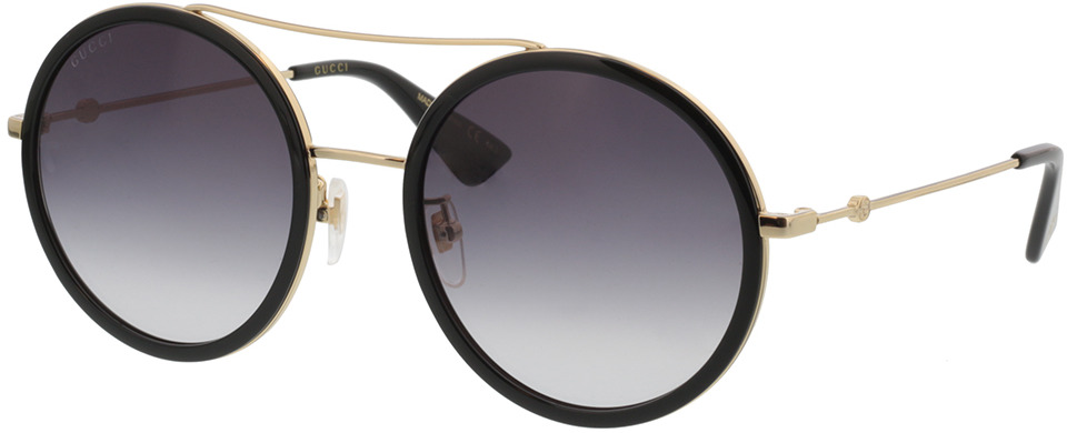 Picture of glasses model Gucci GG0061S-001 56-22 in angle 330