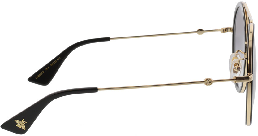 Picture of glasses model Gucci GG0061S-001 56-22 in angle 90