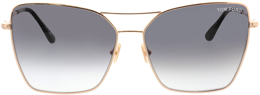 Picture of glasses model Tom Ford FT0738 28B in angle 0
