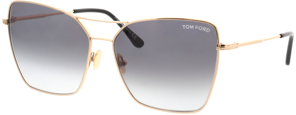 Picture of glasses model Tom Ford FT0738 28B in angle 330