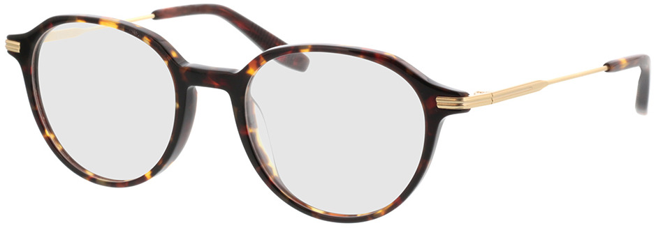 Picture of glasses model Piero-braun-meliert/gold in angle 330