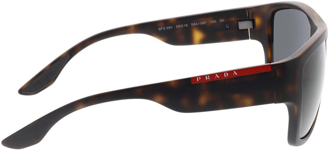 Picture of glasses model Prada Linea Rossa PS 08VS 56406F 59-16 in angle 90
