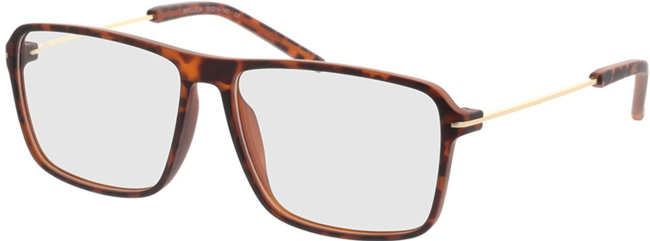 Picture of glasses model Watts-braun-meliert/gold in angle 330
