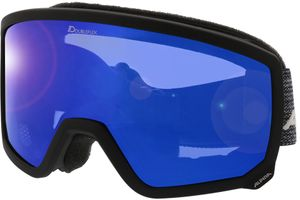 Alpina Skibrille SCARABEO black matt MM blue