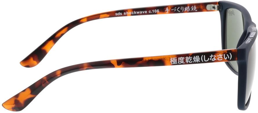 Picture of glasses model Superdry SDS Shockwave 106 blau/havanna 55-17 in angle 90