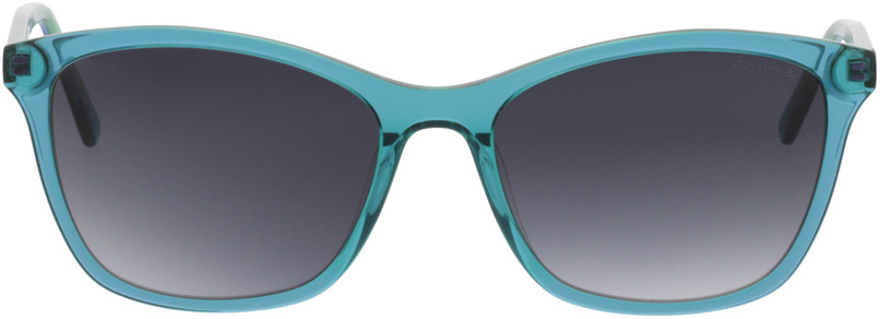 Picture of glasses model Comma, 77073 58 transparent türkis 55-17 in angle 0