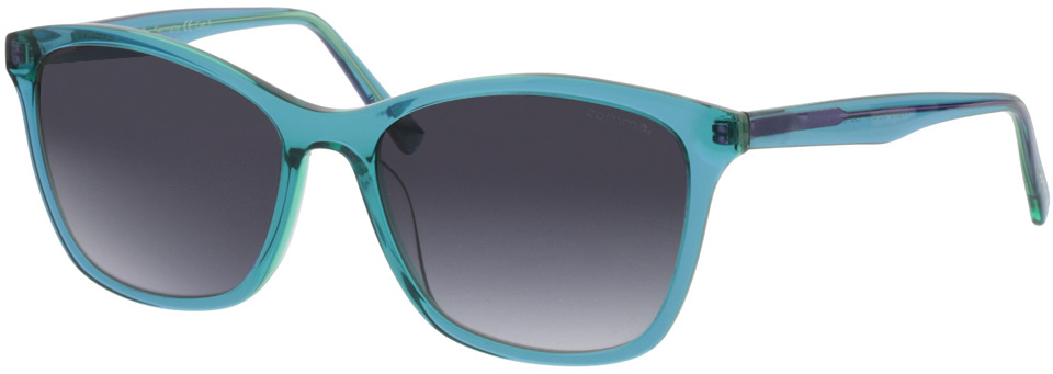 Picture of glasses model Comma, 77073 58 transparent türkis 55-17 in angle 330