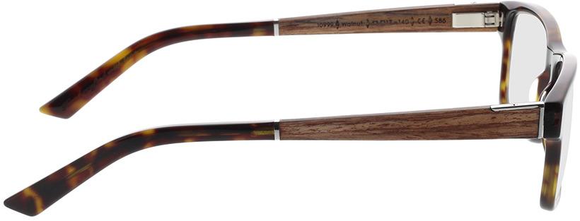Picture of glasses model Wood Fellas Optical Maximilian Premium walnut/havana 53-17 in angle 90