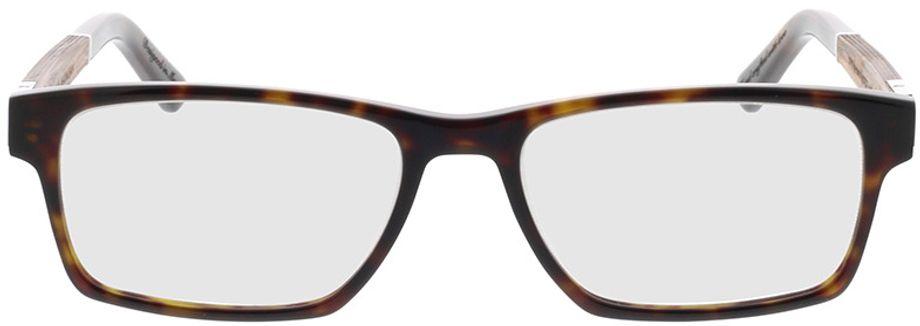 Picture of glasses model Wood Fellas Optical Maximilian Premium walnut/havana 53-17 in angle 0