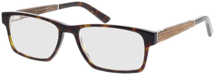 Picture of glasses model Wood Fellas Optical Maximilian Premium walnut/havana 53-17 in angle 330